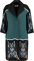Peter Pilotto Atari embellished paneled wool and satin-twill coat