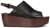See by Chloe Women's Leather Platform Mules Black