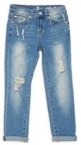 7 For All Mankind Girl's Josefina Straight-Fit Jeans