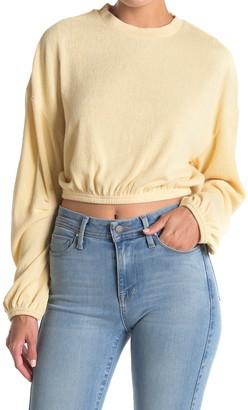 Amuse Society Melo Long Sleeve Knit Fleece Top