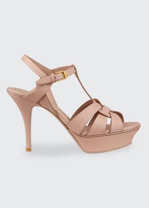 Saint Laurent Tribute T-Strap Platform Sandals