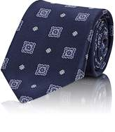 Fairfax MEN'S MEDALLION-MOTIF SILK JACQUARD NECKTIE