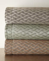 Dian Austin Couture Home King Le Plaza Woven-Pattern Coverlet