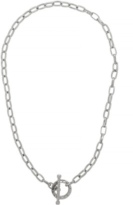 Olivia Burton Bejewelled T-Bar Silver-plated Chain Necklace