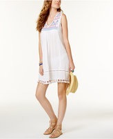Raviya Embroidered Fringe Cover-Up Dress