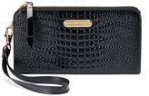 Leatherbay Women's Crocodile Accordion Wristlet Wallet