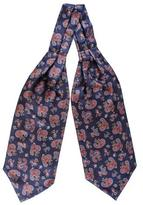 Black Tellaro Red and Navy Paisley Silk Cravat
