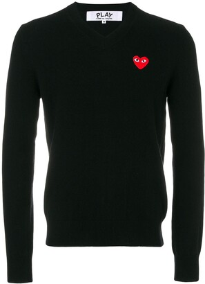 Comme des Garcons Heart Logo Sweater