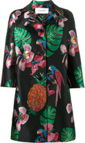 Valentino Tropical Dream oversized coat - women - Silk/Cotton/Polyester/Metallic Fibre - 42