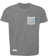 Anchor & Crew Athletic Grey Digit Print Organic Cotton T-Shirt Mens