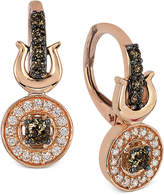 LeVian Le Vian Chocolatier® Chocolate and White Diamond Drop Earrings (3/8 ct. t.w.) in 14k Rose Gold