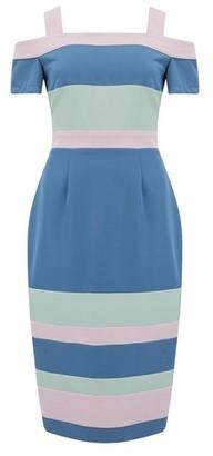 Dorothy Perkins Womens Paper Dolls Mufti Colour Stripe Print Bodycon Dress