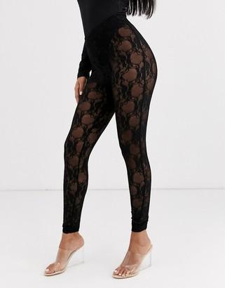 Asos DESIGN lace legging