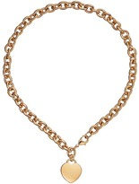 GUESS Logo Heart Charm Necklace