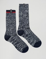 Pringle Black Boot Socks In 2 Pack Navy