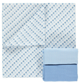 George 3 Pack Assorted Muslin Squares
