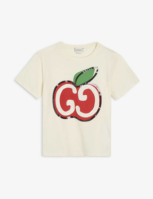 Gucci GG apple cotton T-shirt 4-10 years