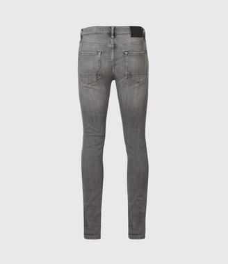 AllSaints Cigarette Skinny Jeans, Mid Grey