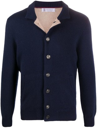 Brunello Cucinelli Stand-Up Collar Buttoned Cardigan