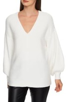 1 STATE 1.State Blouson Sleeve V-Neck Sweater