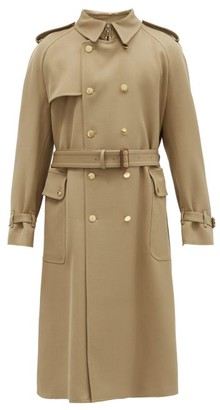 Gucci Double-breasted Wool-twill Trench Coat - Camel