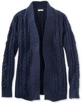 L.L. Bean Double L Cotton Sweater, Open Cardigan
