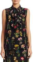 No.21 NO. 21 Silk Floral-Print Top