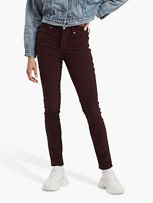 Levi's 721 High Rise Corduroy Skinny Jeans, Malbec Luxe Cord