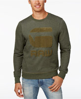 G Star Men's Yster Tufted-Chenille Logo Sweater