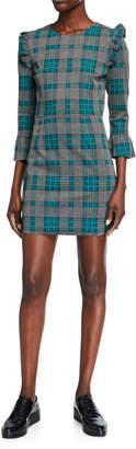 J.o.a. Ruffled Plaid Dress