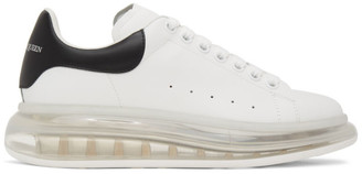 Alexander McQueen White and Black Clear Sole Oversized Sneakers