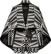 Balmain Cape-effect jacquard jacket