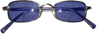 Versace Blue Metal Sunglasses