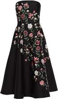 Kate Spade Madison Avenue Lilliane Strapless Embroidered Cady Midi Dress