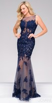 Jovani Illusion Embroidered Column Prom Dress