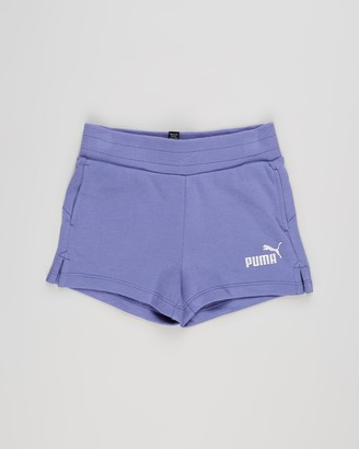 Puma Girl's Blue Shorts - Essential Shorts - Kids-Teens - Size 7-8 YRS, 7-8YRS at The Iconic