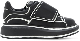 Alexander McQueen Leather Strap Sneakers