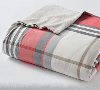 Pottery Barn McKinley Plaid Sherpa Blanket