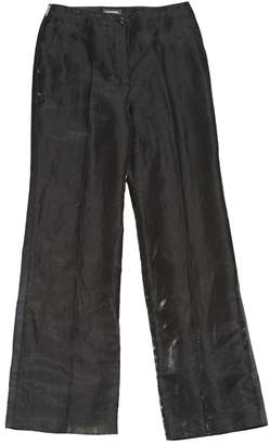 Chanel Black Linen Trousers