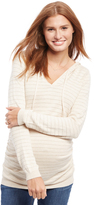 Motherhood Side Ruched Maternity Hoodie