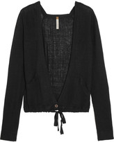 Soyer Paneled linen, cashmere and silk-blend cardigan
