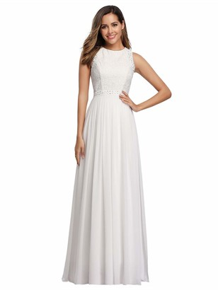Ever Pretty Ever-Pretty Women's Floor Length A Line Sleeveless Long Wedding Guest Dresses 12