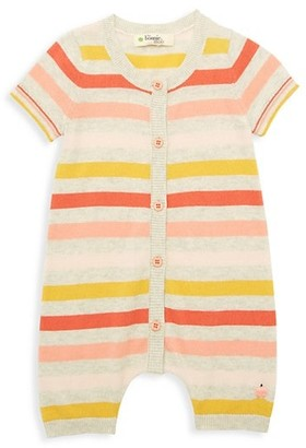 The Bonnie Mob Baby Girl's Lazy Hazy Summer Days Striped Organic Cotton Romper