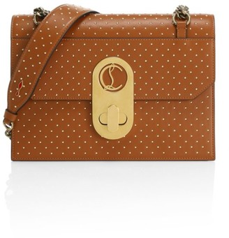 Christian Louboutin Large Elisa Studded Leather Shoulder Bag