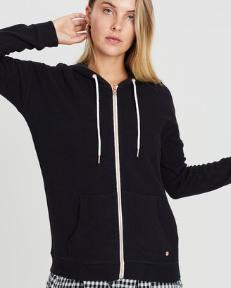 Volcom Women's Black Hoodies - Lived In Lounge Zip Fleece - Size One Size, 6 at The Iconic