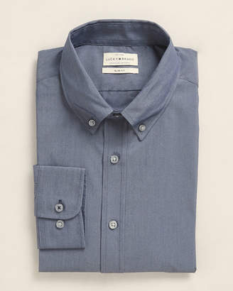 Lucky Brand Button-Down Slim Fit Chambray Dress Shirt