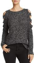 Aqua Slit Cold-Shoulder Sweater - 100% Exclusive