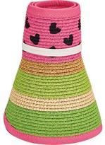 San Diego Hat Company Striped Roll Up Visor with Painted Pattern UBK2050 (Girls')