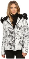 """Betsey Johnson Marble"""" Printed Puffer"""