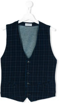 Paolo Pecora checked waistcoat - kids - Cotton/Spandex/Elastane - 14 yrs